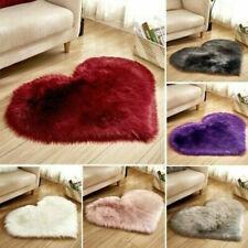 10colors Heart Shape Fluffy Rugs Anti Skid Shaggy Rug Dining Room Bedroom Carpet