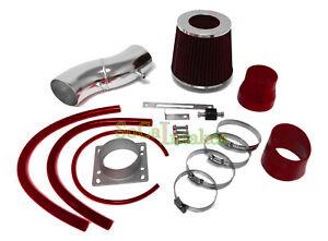 Red Air Intake Kit & Filter For 1991-1999 Nissan Sentra 1.6L L4