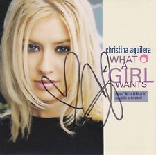 Christina Aguilera signed What A Girl Wants cd single