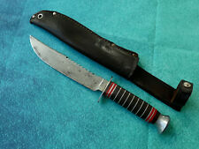 PUMA Germany Explorer Sawback Hunting Knife VINTAGE Stacked Handle Carbon Steel