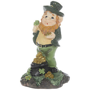Lucky The Leprechaun With Pot Of Gold Figurine St Patrick's Day