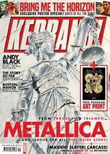 Kerrang! Magazine September 1st 2018: Metallica Bring Me The Horizon Andy Black
