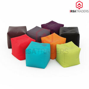 New Footstools Cube Bean Bag Foot Rest Stool Pouffe Living Room Beanbag indoor
