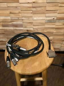 Db25 to male xlr 8 channel snake 9 ft