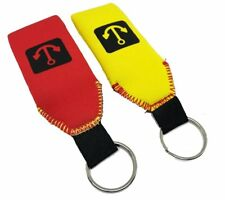 2x Floating Neoprene Keychain Key Chain floats 2-3 Keys (1 Red & 1 Yellow)