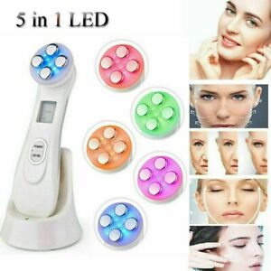 6 In 1 Ultrasonic Face Lifting RF Anti Aging LED Photon Therapy Skin Care Device