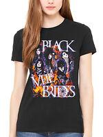 Official Black Veil Brides Set On Fire Women's T-Shirt Rock Band Fan Merch BVB