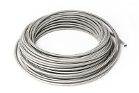Dash 4 Ptfe Braided Stainless Steel Brake Lines 0,5m - 0 3/16in AN4 JIC4
