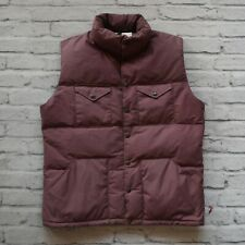 cf13d9618651 Vintage 80s North Face Brown Label Quilted Down Vest Size L Made in USA