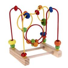 Wooden Toys Baby Kids Math Toys Colorful Mini Around Beads Wire Maze Educational