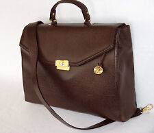 BRAHMIN Rare BROWN NEPAL LEATHER BRIEFCASE COMPUTER BUSINESS BAG Unisex NWT $395