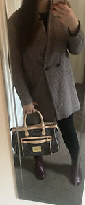 Womens Zara Vintage Style Check Trendy Coat Oversize Blazer Uk L (14-16)