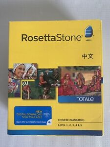 Rosetta Stone Chinese Mandarin Version 4 Levels 1, 2, 3, 4 & 5 With New Headset