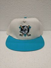 Vintage Anaheim Mighty Ducks Nhl 90s Snapback Cap Hat Made In Usa Nwot