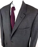 Hickey-Freeman Men's 43 R Gray 3-Button Wool Blazer Sport Coat Suit Jacket