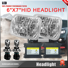 NEW!2X HID H4 Light Bulbs 7x6 Square Headlight 6000K Super white Fit Mazda B2600