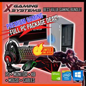 BEST VALUE GEFORCE i5 Gaming PC Full Package Bundle Computer Office Desktop