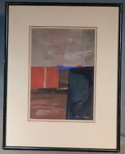 Vintage Mid-Century Modern Abstract Painting Russian Cubist SIGNED MYSTERY Art