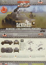 Facilitateur allemand Voiture blindée Sd.Kfz. 221,First To Fight,1/72,Plastique