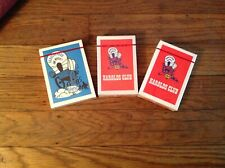 Vintage Harold's Club Casino Playing Cards ( 3 Packs / Sealed )