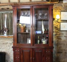 Baumhaus La Roque Dresser Top (hutch) With Glass Doors - Solid Mahogany Wood