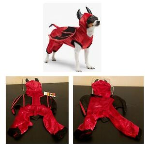 New Martha Stewart Pet Large Halloween Costume PJs Red Black Winged Devil Unisex