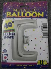 Giant Foil letter E Helium name balloon Gold Silver 40 inch wedding party