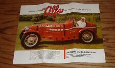 Original 1931 Alfa Romeo Replicar Kit Foldout Sales Brochure 31 Bugatti