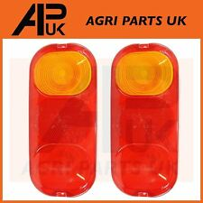 Pair of JCB 3CX Parts Rear Tail Light Lens 4CX Side Indicator Lamp Project 12,21