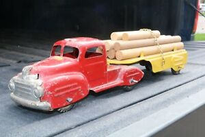 Lincoln Toy Lumber Log Hauler Transport Truck - Made in Canada