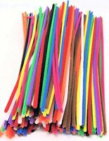 "CRAFT Chenille Stems Assorted Pipe Cleaners Colours 12"" 30cm long 100 Pack"