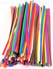 """CRAFT Chenille Stems Assorted Pipe Cleaners Colours 12"""" 30cm long 100 Pack"""