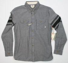Vans Classic Fit Sterling L/S Grey Stripe Shirt - M