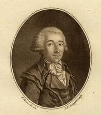 Quénard Portrait Médaillon de Léon Buzot - Eau Forte Francois Bonneville