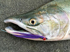 Fly Fishing Flies (Redfish, Trout, Bass, Snook) Clouser Minnow Purple (6 flies)