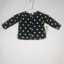 Route 66 Baby 12 months wool blend Coat Black white polkadot faux sherpa lining