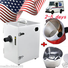 USA SHIP Dental Lab Equipment Single-Row Dust Collector Vacuum Cleaner+Gift