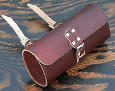 Brown Red Leather Bike TOOL BAG B Fixie Vintage Schwinn Cruiser Bicycle Saddle