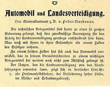 El teniente general V. pelet Narbona automoción u. defensa nacional editorial 1906