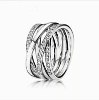 Pandora Authentic Entwining Silver Ring All Sizes Gift RRP £75 with Pouch UK