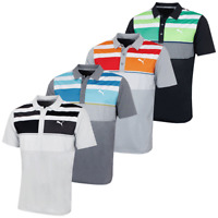 Puma Golf Mens Road Map Asym Polo Shirt DryCell Moisture-Wicking 44% OFF RRP