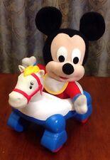 VINTAGE DISNEY BABIES MICKEY MOUSE P,USH TOY HORSE BABY WALKER MATTEL 1998