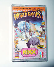 JEU AMSTRAD CASSETTE CPC464 664 6128 WORLD GAMES
