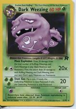 Pokemon Team Rocket Rare Card #31/82 Dark Weezing