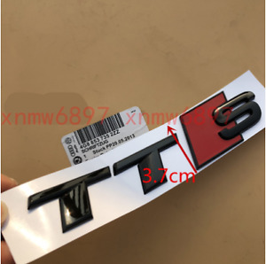 New Gloss Black TT S Trunk Rear Number Letters Badge Emblem Sticker for Audi TTS