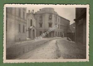 Original Foto Tarnow/Polen 1939/40, Postgebäude nach dem Brand - Polenfeldzug
