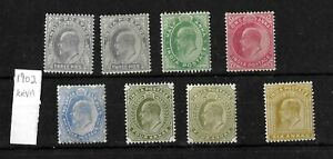 India, 1902 KEVII small selection to 6a LMM (I132)