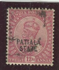 India - Convention States - Patiala Stamps Scott  #51 Used,VF (X6503N)