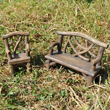 Mini Fairy Garden Bench & Chair Miniature Decor Pixie Elf Magic Accessory 39602