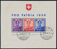 SCHWEIZ, 1936, Block 2, sauber gestempelt, II. Wahl, Mi. 250,-